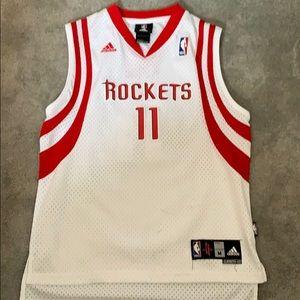 Vintage NBA Adidas Rockets 11 YAO Jersey ECU Boys